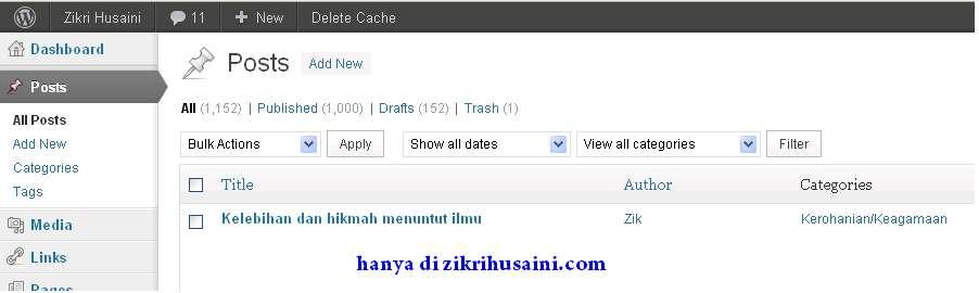 zikrihusaini.com, lelaki kacak, post yang ke seribu ZH